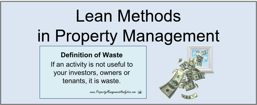 8 Types of Waste in Property Management