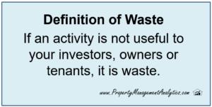 waste definition lean methods in property management