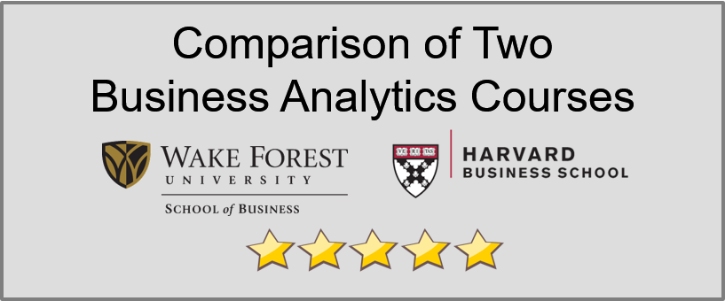 Comparison of Two Business Analytics Courses